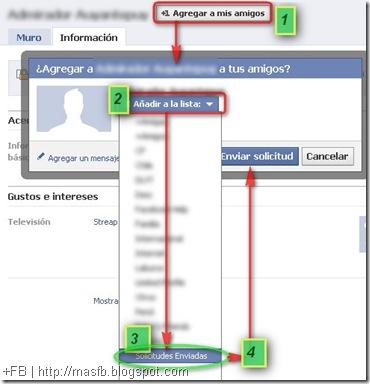 Metodo para Gestionar Solicitudes Enviadas por Facebook MasFB